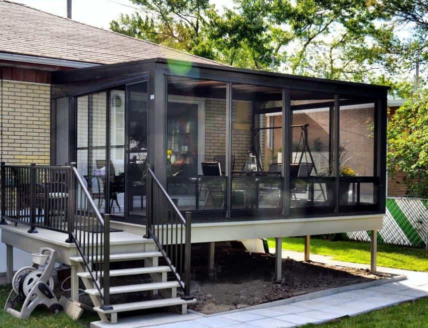 solarium maison plain-pied