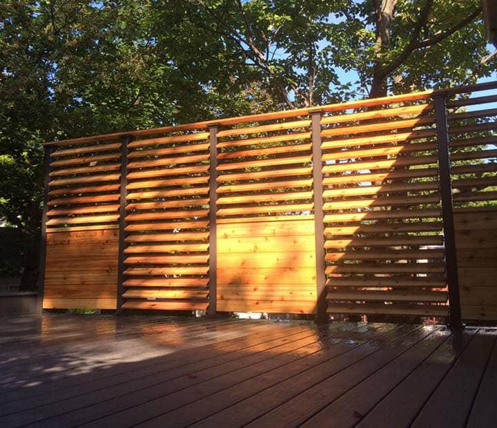 clôture mélèze bois